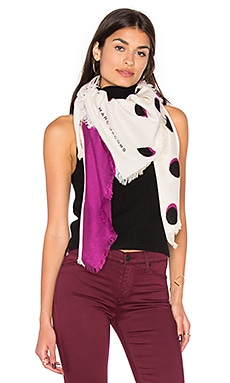 Shadow Spot Scarf in Ivory Multi