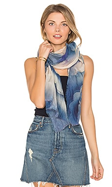 Clouds Stole Scarf en Carreaux bleu