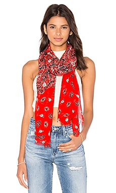 Paisley Scarf in Chili Pepper Multi