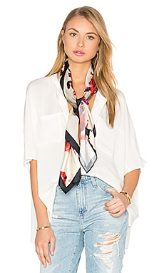 Marc Jacobs Brocade Floral Scarf in Antique White Multi