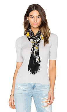 Daisies Scarf in Black Multi