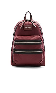Marc Jacobs Nylon Biker Backpack in Rubino