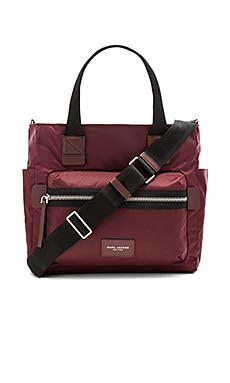Nylon Biker Babybag in Rubino
