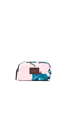 Brocade Floral Large Cosmetic Bag en Imprimé Rose