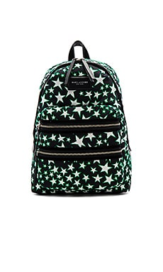 Flocked Star Printed Biker Backpack