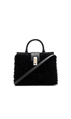 West End Lamb Shearling Small Top Handle Bag
