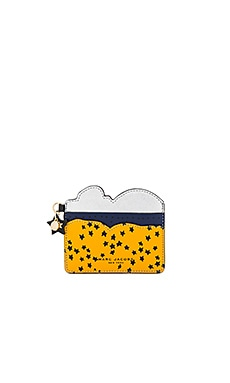 Cartoon Card Case in Black Multi