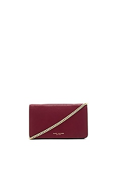 Perry Wallet on Chain in Dark Cherry