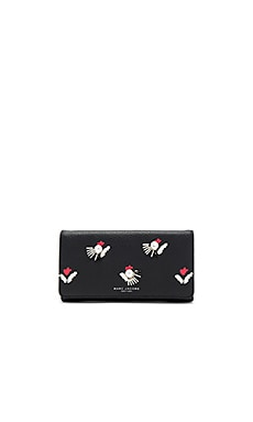 Embellished Tulip Flap Continental Wallet