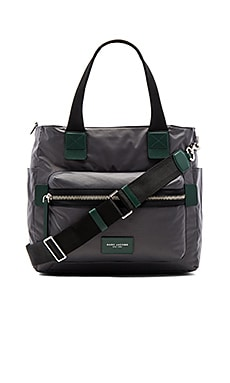 Nylon Biker Babybag in Shadow