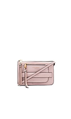 Madison Patent Crossbody Bag in Rose Smoke