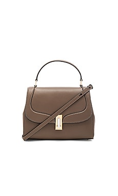 West End Stitch Top Handle II Bag en Teak