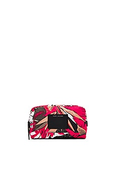 B.Y.O.T Palm Large Cosmetic Bag in Pink Multi