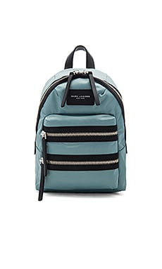 Nylon Biker Mini Backpack in Dolphin Blue