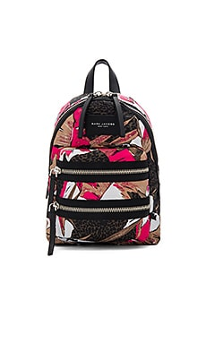 Palm Printed Biker Mini Backpack in Pink Multi