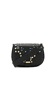 70s Studded Navigator Bag in Black