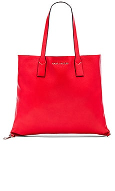 Marc Jacobs Wingman Shopping Tote in Bright Red Multi