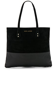 Suede Wingman Tote in Black
