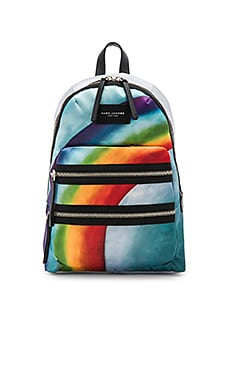 Rainbow Printed Biker Backpack