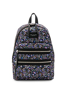 Garden Paisley Printed Biker Backpack in Purple Multi