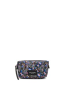 Garden Paisley Biker Landscape Bag in Purple Multi