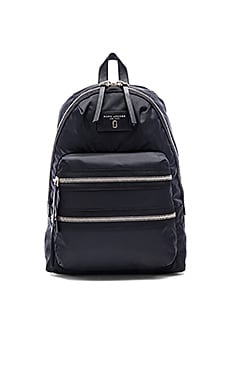 Nylon Biker Backpack in Schwarz