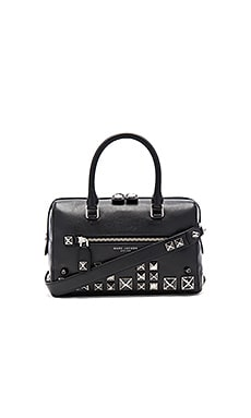 Marc Jacobs Recruit Studs Bauletto Bag in Black
