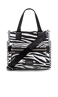 Marc Jacobs Zebra Biker Babybag in Off White Multi