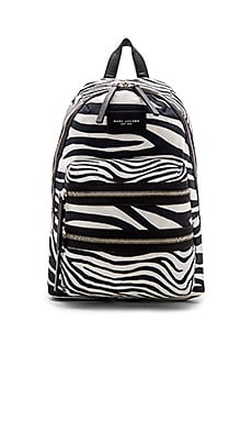 Zebra Biker Backpack in Off White Multi