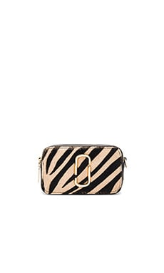 Marc Jacobs Snapshot Zebra Small Camera Bag in Camel Multi