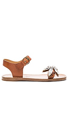 Rivington Embellished Sandal in Luggage