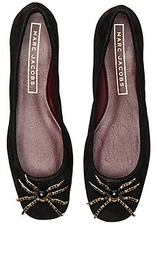 Molly Embellished Spider Flat in Black