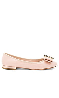 Interlock Round Toe Ballerina