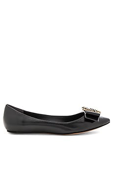 Interlock Pointy Toe Ballerina Flat