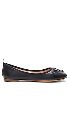 Cleo Studded Ballerina Flat in Black