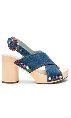 Linda Criss Cross Clog in Denim