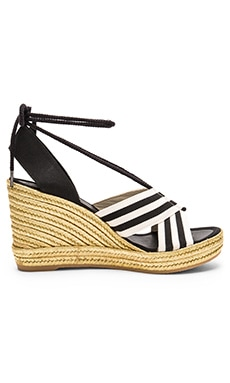 Marc Jacobs Dani Wedge Espadrille in Black & White