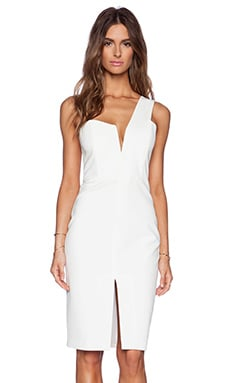 Mason by Michelle Mason One Shoulder Dress in Ivory