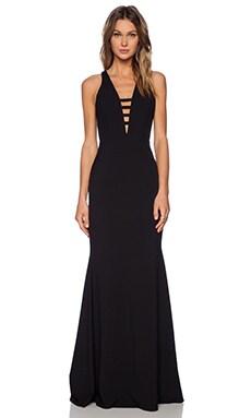 Mason by Michelle Mason Bar Strap Gown in Black