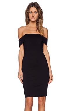Mason by Michelle Mason Off Shoulder Dress in Black