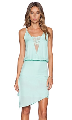 Mason by Michelle Mason Lace Cami Dress in Seafoam