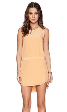 Mason by Michelle Mason Shift Mini Dress in Apricot
