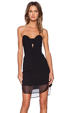 Mason by Michelle Mason Bustier Dress in Black