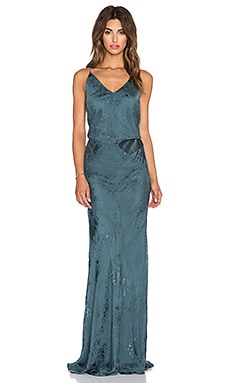 Mason by Michelle Mason Bias Gown in Petrol