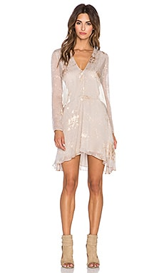 Mason by Michelle Mason Long Sleeve Mini Dress in Oyster