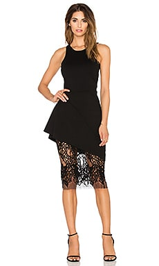 Mason by Michelle Mason Racer Dress With Lace Skirt