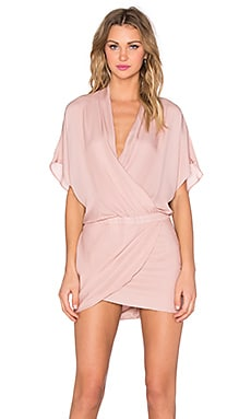 Mason by Michelle Mason Wrap Mini Dress in Blush