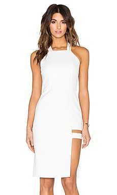 Mason by Michelle Mason Cage Halter Dress in Ivory