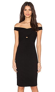 Mason by Michelle Mason Cross Strap Dress in Black