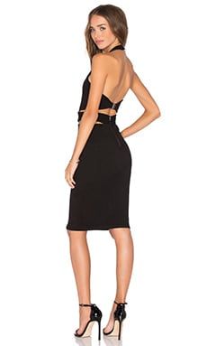 Halter Band Dress in Black